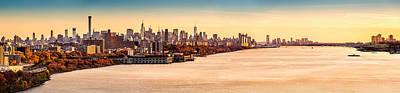 Photograph - New York And Hudson River Panorama by Mihai Andritoiu