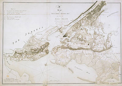 Cartographic Photograph - New York And Staten Islands by British Library