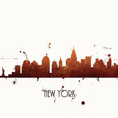 Nyc Skyline Painting - New York by Anna Quach