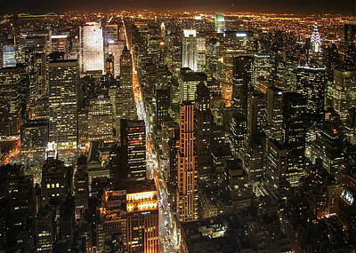 Photograph - New York At Night by Celso Diniz