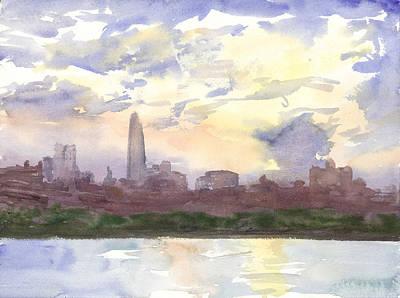 New York August Sunset Original by Walter Lynn Mosley