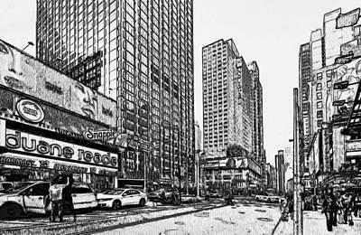 New York Black And White 11 Art Print by Yury Malkov