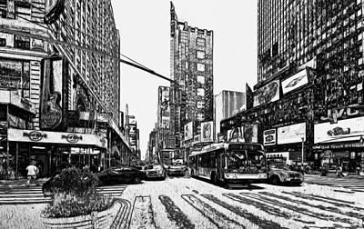 New York Black And White 12 Art Print by Yury Malkov