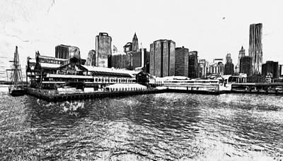 New York Black And White 7 Art Print by Yury Malkov