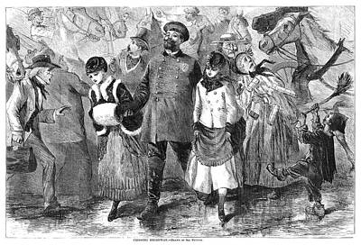 New York Broadway, 1870 Art Print