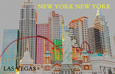 Roller Coaster Painting - New York Casino Las Vegas by David Lee Thompson