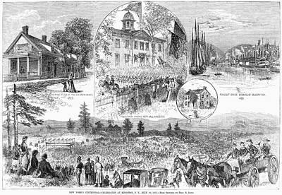 New York Centennial, 1877 Art Print
