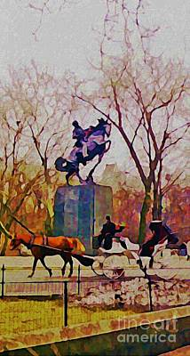 Architcture Digital Art - New York Central Park by John Malone JSM Fine Arts Halifax NS