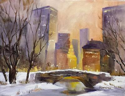 Painting - New York Central Park by Larry Hamilton