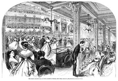 New York Charity Ball, 1866 Art Print by Granger