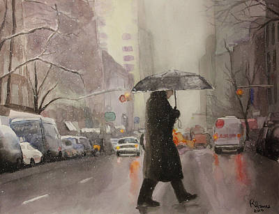 Painting - New York Chill by Rachel Hames