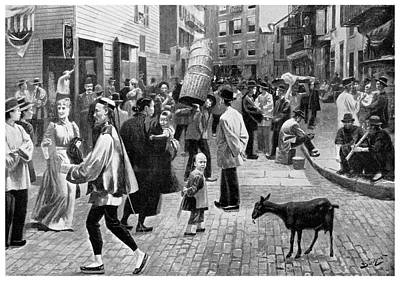 New York Chinatown, 1896 Art Print