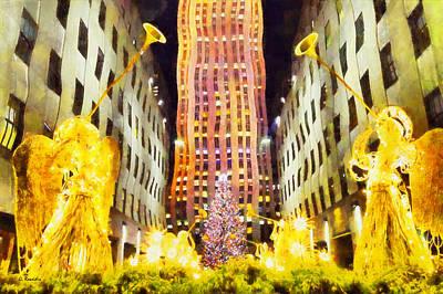 New York Christmas Art Print