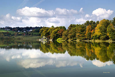 Country Cottage Photograph - New York Cincinnatus Lake by Christina Rollo
