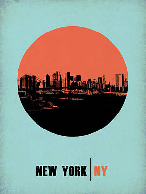 Nostalgic Digital Art - New York Circle Poster 2 by Naxart Studio