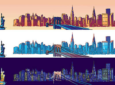 New York City - All Day Art Print