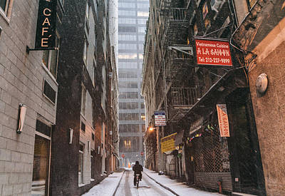 New York City Alley In The Snow Art Print by Vivienne Gucwa