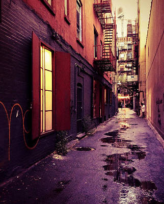 Lower East Side Photograph - New York City Alley by Vivienne Gucwa