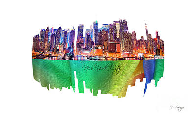 New York City Art Collection No. 200 Art Print by Victor Arriaga