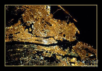 Photograph - New York City At Night Nasa by Rose Santuci-Sofranko