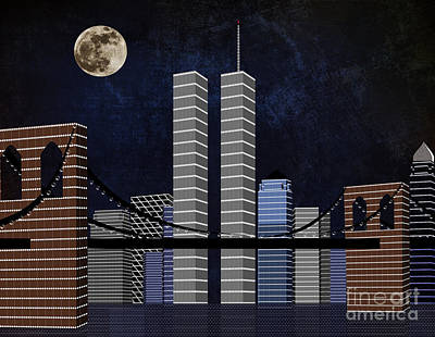 Digital Art - New York City Better Days by Andee Design