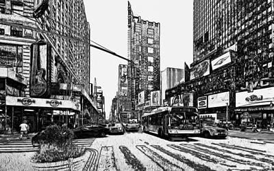 New York City Black And White 1 Art Print by Yury Malkov