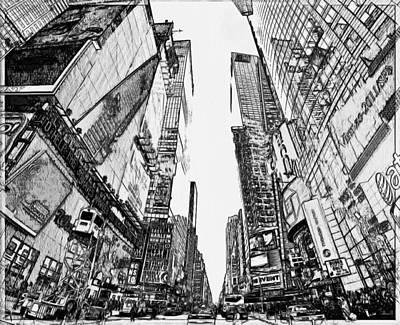 New York City Black And White 2 Art Print by Yury Malkov