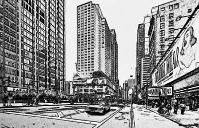 New York City Black And White 4 Art Print by Yury Malkov
