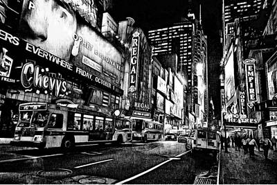 New York City Black And White 5 Art Print by Yury Malkov