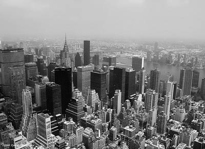 Photograph - New York City Black And White by Debra Forand