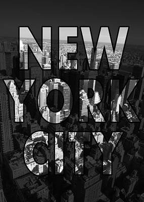 New York Digital Art - New York City - Black by Nicklas Gustafsson