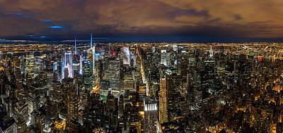 Photograph - New York City By Night by Mihai Andritoiu