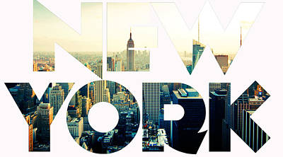New York City Art Print by Celestial Images