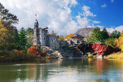 New York City Central Park Belvedere Castle Art Print
