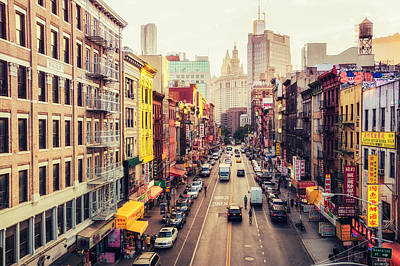 Density Photograph - New York City - Chinatown Street by Vivienne Gucwa