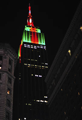 Photograph - New York City Christmas Empire State Building by Terry DeLuco