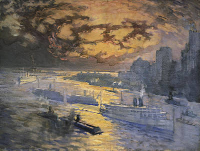 Storm Clouds Painting - New York City Circa 1921 by Aged Pixel