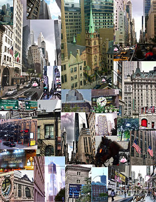 Photograph - New York City Collage by Susan Garren