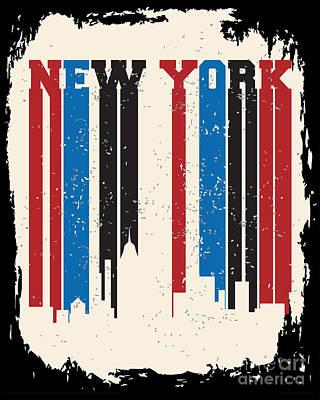 Sea Digital Art - New York City Concept. Logo. Label by Lemanruss