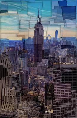 Abstract Skyline Rights Managed Images - New York City Cubism Royalty-Free Image by Dan Sproul