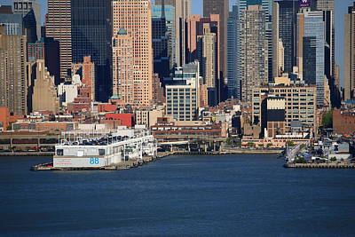 Photograph - New York City Docks On The Hudson by Frank Romeo
