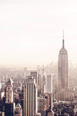 Rooftops Photograph - New York City - Empire State Building by Vivienne Gucwa