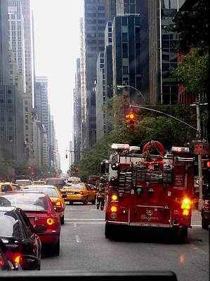 New York City Fire Department Truck Nyfd 2005 Art Print