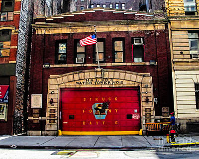 Photograph - New York City Fire Station by Anne Ferguson
