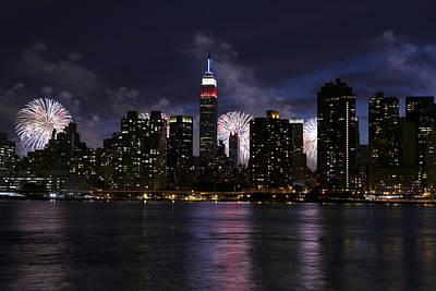 Photograph - New York City Fireworks by Alex Llobet