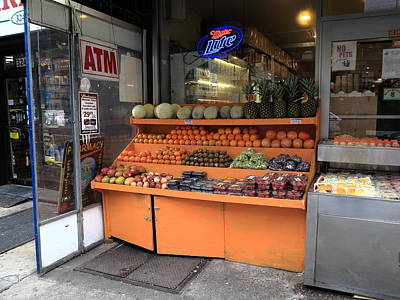 Photograph - New York City Fruit Stand by Frank Romeo