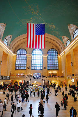 Photograph - New York City Grand Central Station  by Songquan Deng