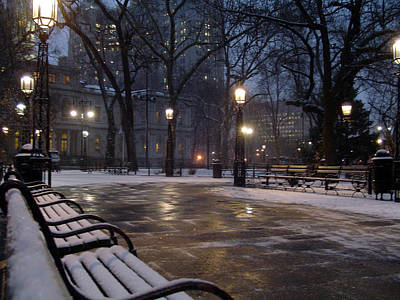 Photograph - New York City Hall Park by Vadim Levin
