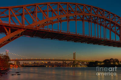 Photograph - New York City Hell Gate Bridges IIi by Clarence Holmes