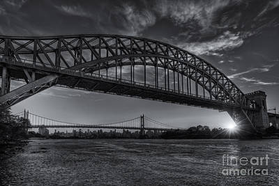 Photograph - New York City Hell Gate Bridges Sunset II by Clarence Holmes